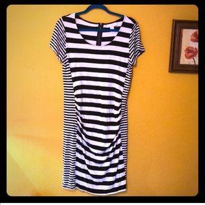 Jessica Simpson Maternity Striped Dress